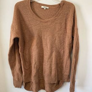 Madewell brown knit oversized  sweater